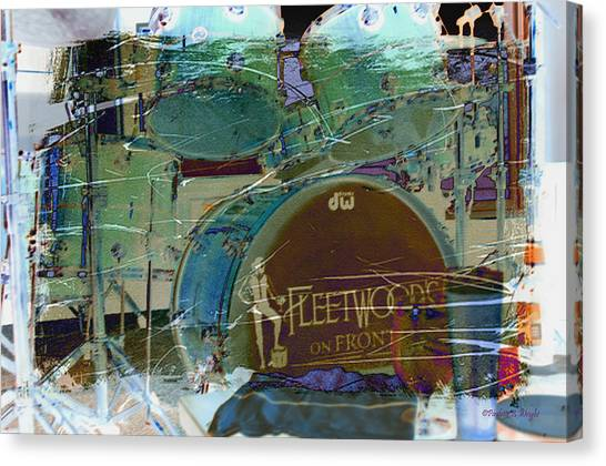 Mac Digital Music Canvas Print - Mick's Drums by Paulette B Wright