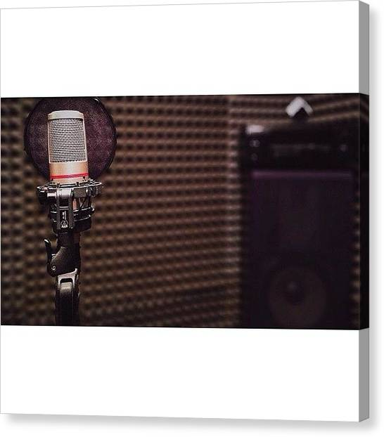 Microphones Canvas Print - Micro-microphone || By The Special by Andrew Mo