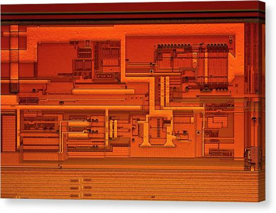 Computer Science Canvas Print - Microprocessor Clock Driver by Antonio Romero
