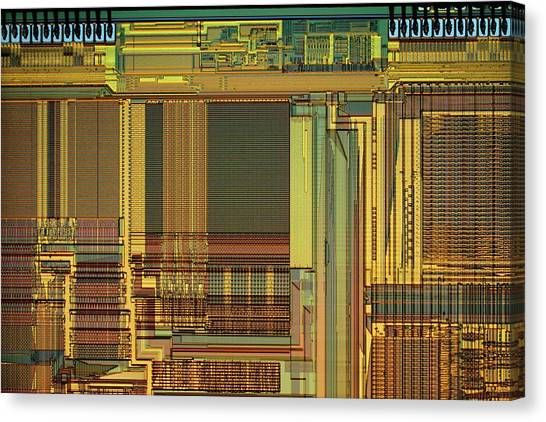 Computer Science Canvas Print - Microprocessor Components by Antonio Romero