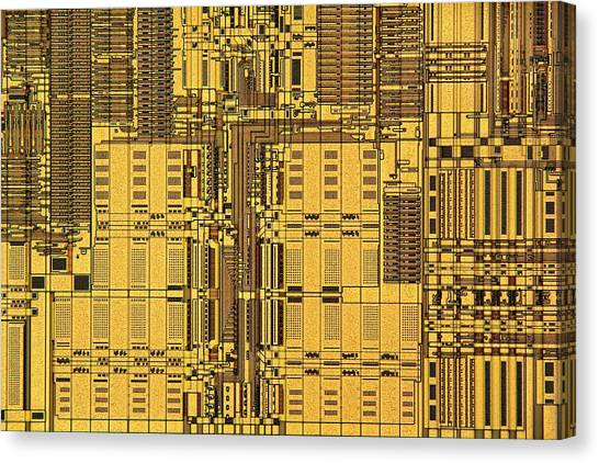 Computer Science Canvas Print - Microprocessor Instruction Decode Unit by Antonio Romero