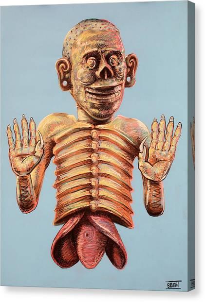 Mictlantecuhtli The Aztec God Of The Dead Canvas Print