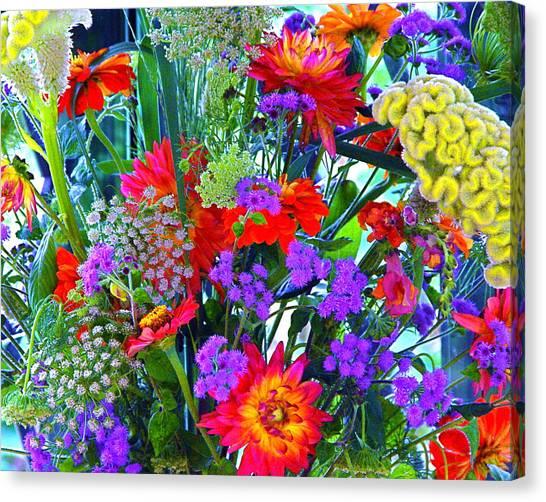 Mid August Bouquet Canvas Print