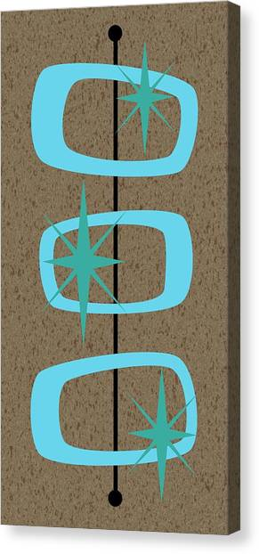 Mid Century Modern Shapes 1 Canvas Print
