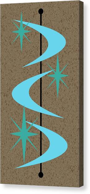 Retro Canvas Print - Mid Century Modern Shapes 2 by Donna Mibus