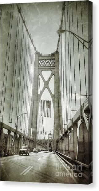 Mid Hudson Suspension Bridge Canvas Print