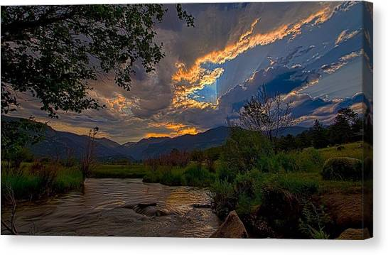 Mid-summer Sunset Canvas Print