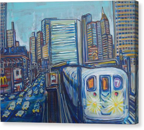 Mid-town Subway Tunnel Canvas Print by Mitchell McClenney