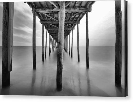 Midday Under The Pier Canvas Print