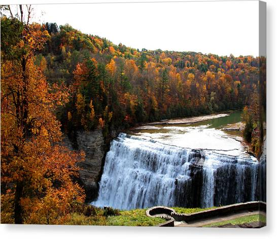 Middle Falls Letchworth State Park Canvas Print