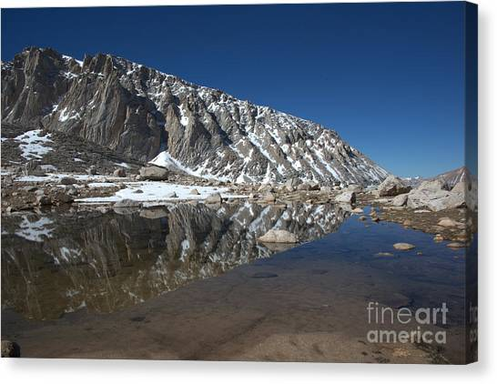 Middle Lake Reflections Canvas Print