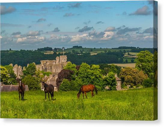 Middleham Castle Canvas Print by David Ross