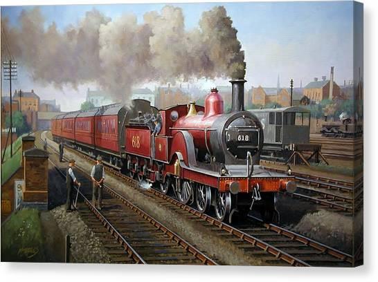 Midland Railway Single 1896. Canvas Print
