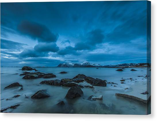 Midnight At Eggum Canvas Print