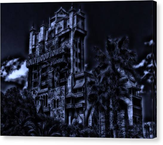 Midnight At The Tower Of Terror Canvas Print