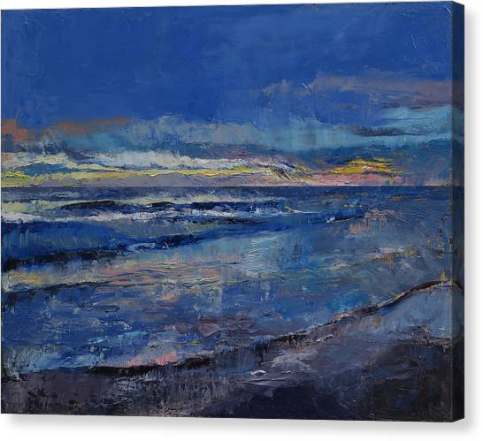 Costa Rican Canvas Print - Midnight Blue by Michael Creese