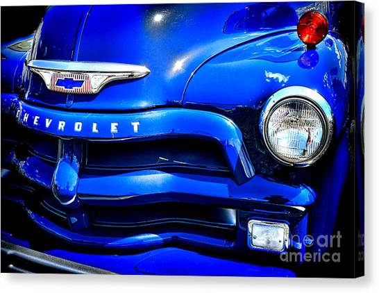 Chevy Pickup Canvas Print - Midnight Chevrolet  by Olivier Le Queinec