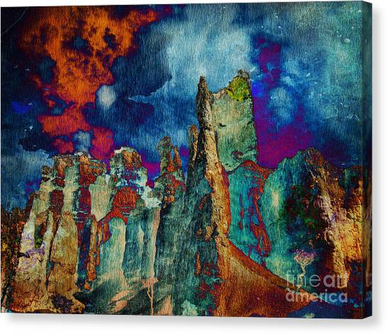 Midnight Fires Canvas Print