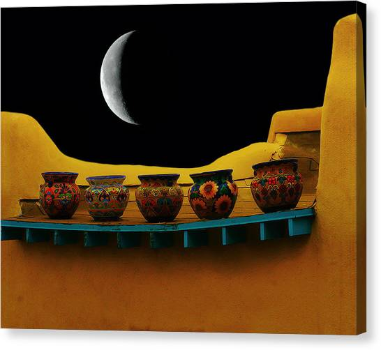 Midnight In Taos Canvas Print