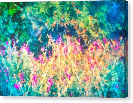 Canvas Print featuring the mixed media Midnight In The Garden by Priya Ghose