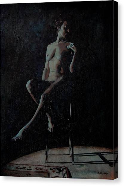 Midnight Canvas Print by Jo King