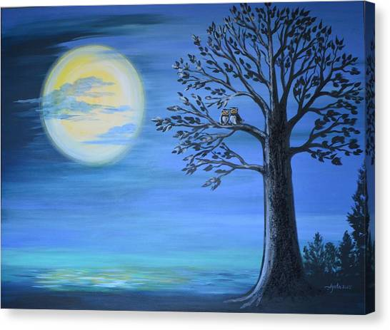 Midnight Owls Canvas Print