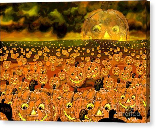 Midnight Pumpkin Patch Canvas Print