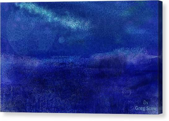 Midnight Sea Passage Canvas Print by Greg Stew