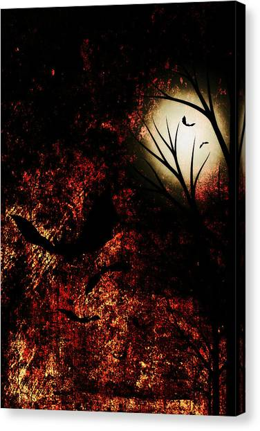 Under The Moon Canvas Print - Midnight Sky by Chastity Hoff