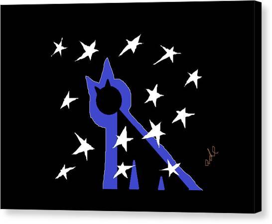 Midnite Canvas Print - Midnight Starlight by Anita Dale Livaditis