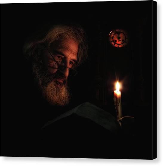 Old Age Canvas Print - Midnight Story by Alfredo Ya?ez