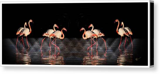Midnight Tango Canvas Print by Ernestine Manowarda