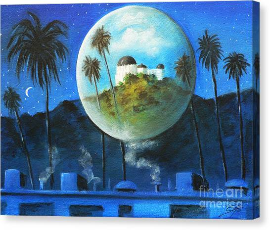Midnights Dream In Los Feliz Canvas Print