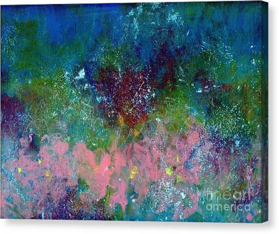 Splashy Art Canvas Print - Midnight's Garden by PJ Lewis