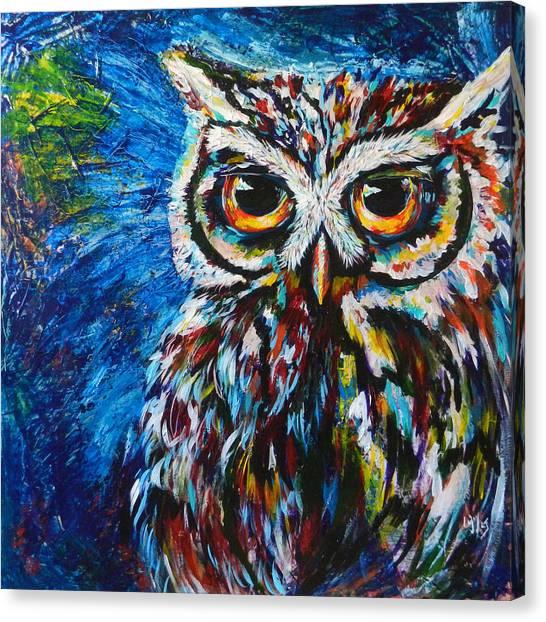 Midnite Canvas Print - Midnite Owl by Lovejoy Creations