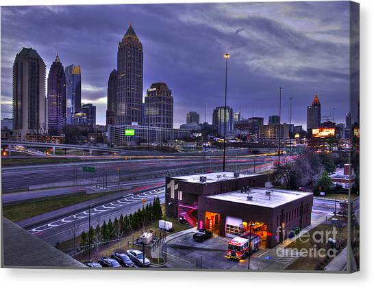 Emory University Canvas Print - Midtown Atlanta Fire Proof Ready by Reid Callaway