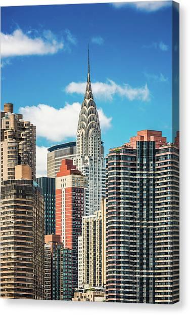 Midtown Manhattan, New York City, Usa Canvas Print by Mbbirdy