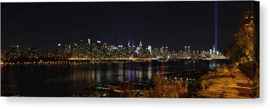 Midtown Manhattan To The Tribute Lights Canvas Print