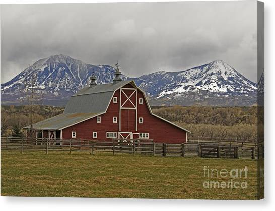 Midway Ranch Barn Canvas Print
