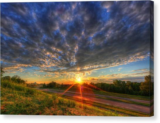 Midwest Sunset After A Storm Canvas Print