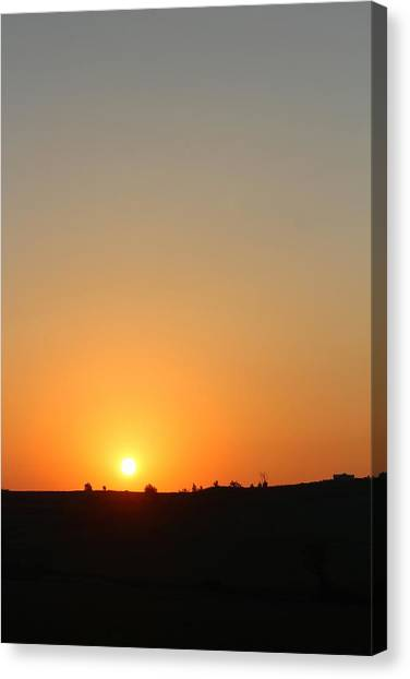 Midwest Sunset Canvas Print by Angie Phillips aka Angieclementine