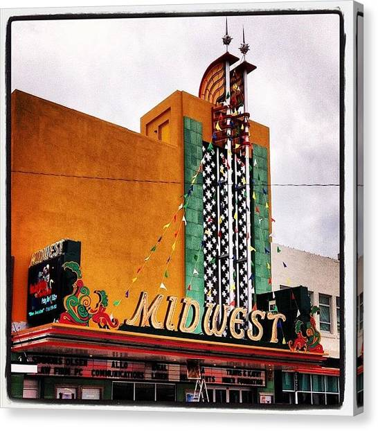 Science Fiction Canvas Print - Midwest Theater  Scottsbluff Ne by M Hunter