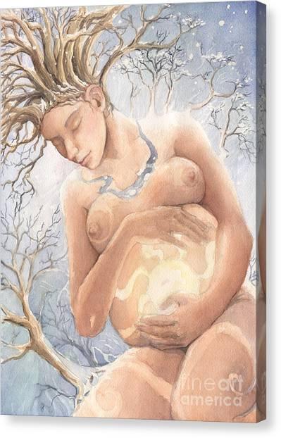 Midwinter Promise Canvas Print by Liz Ellis
