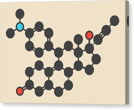 Abortion Canvas Print - Mifepristone Molecule by Molekuul