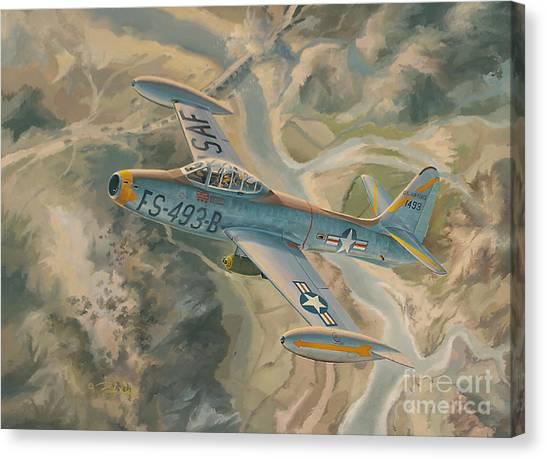 Luftwaffe Canvas Print - Mig Killer by Randy Green