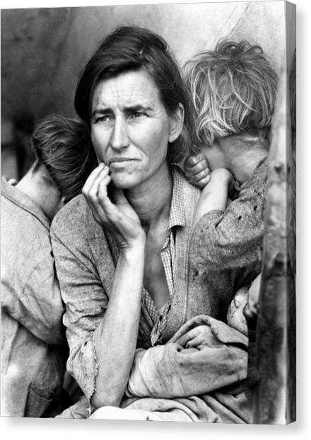 Migrant Mother, 1936 Canvas Print by Granger
