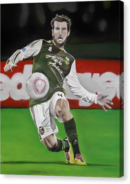 Mls Canvas Print - Mike Chewey Chabala by Brian Broadway