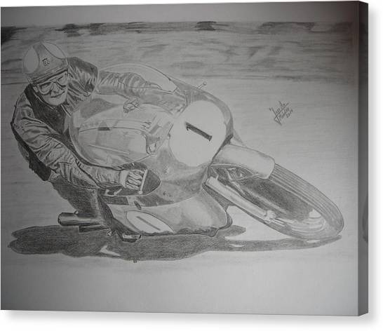 Mike Hailwood Canvas Print by Jose Mendez