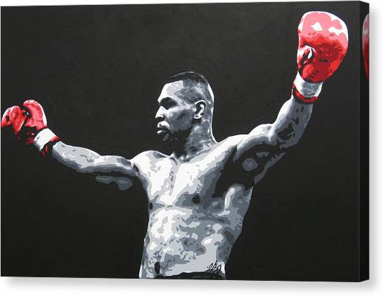 Boxing Canvas Print - Mike Tyson 1 by Geo Thomson