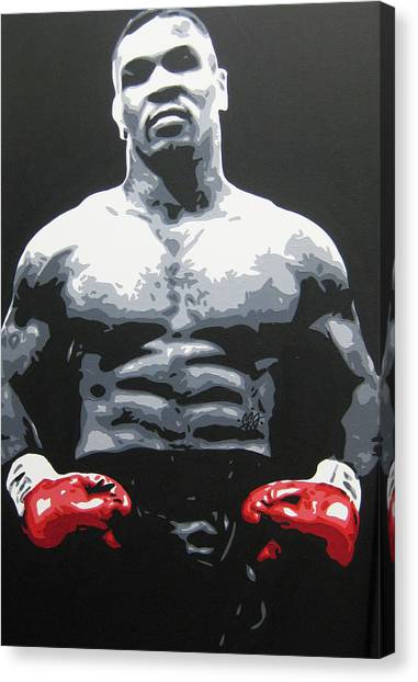 Mike Tyson Canvas Print - Mike Tyson 10 by Geo Thomson